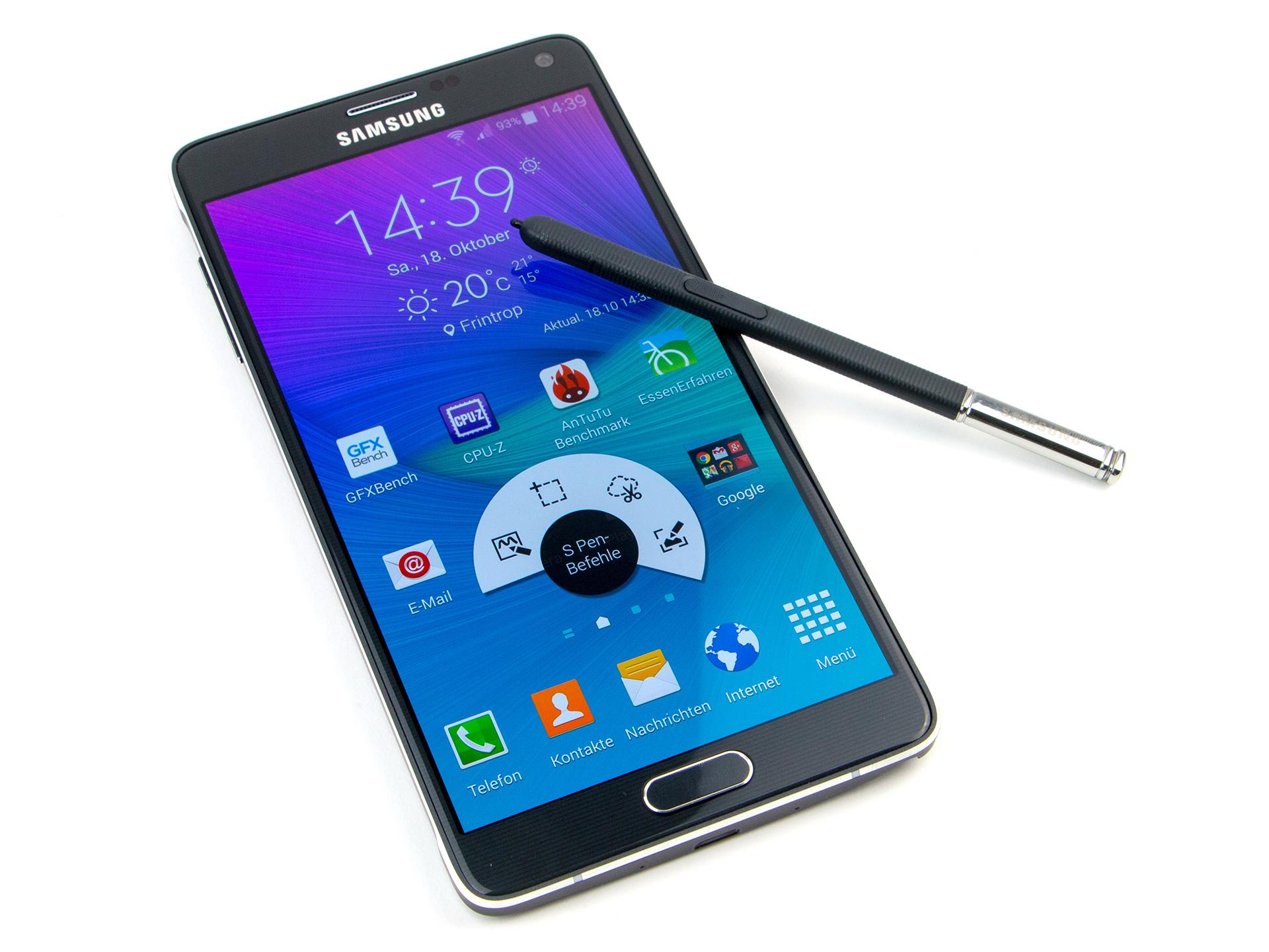 b9e7227cd62c6 Análisis completo del Smartphone Samsung Galaxy Note 4 (SM-N910F) -  Notebookcheck.org