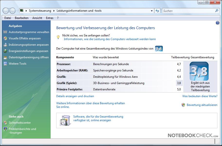 An�lisis Samsung R60-Aura Deesan T2330 - Notebookcheck.org