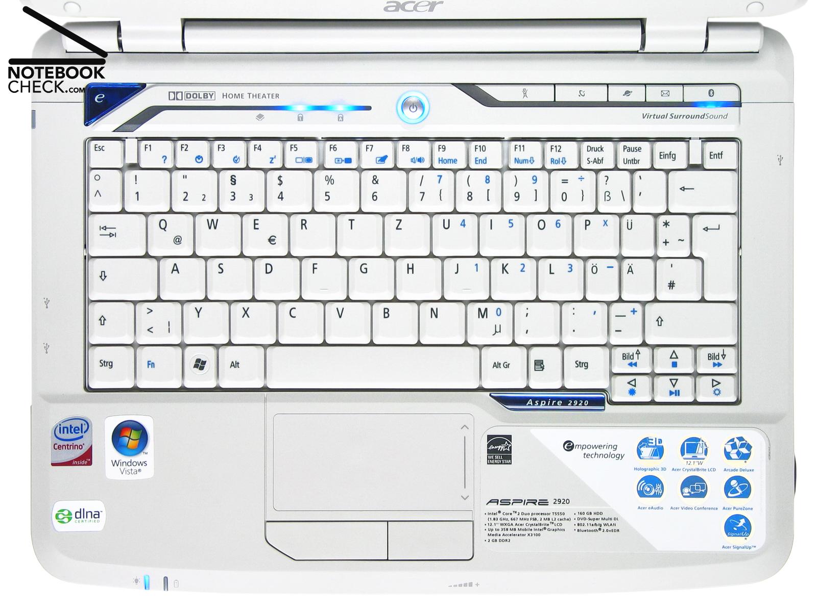 Acer Aspire 2920 Camera 64x