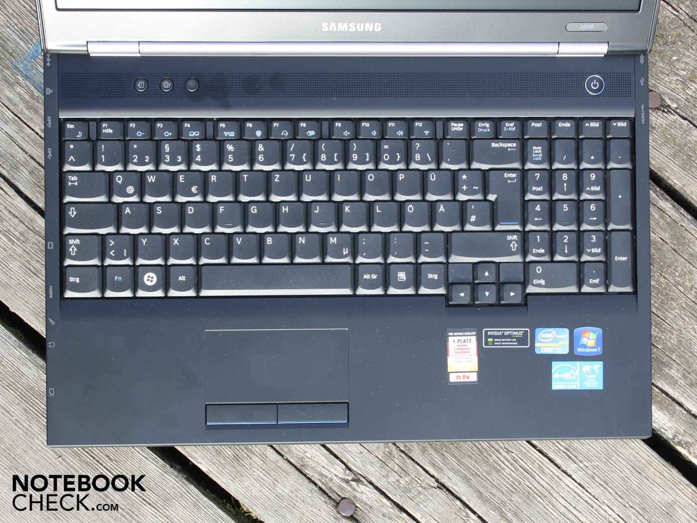 Notebook samsung com teclado numerico - Teclado Altamente Sensible