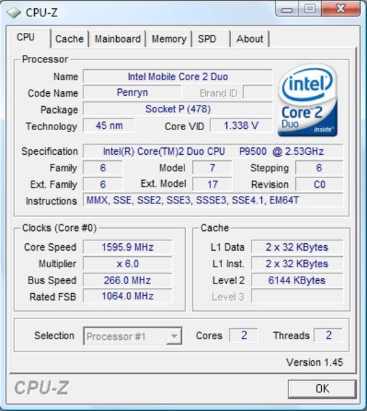 Chipset intel pm45