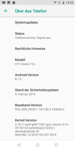 Software HTC Desire 12s
