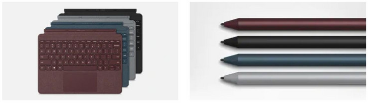 Microsoft Surface Go Signature Type Cover und Active Pen (Fuente: Microsoft)