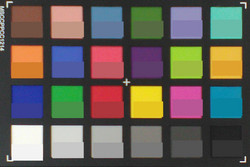ColorChecker: Color de referencia en la mitad inferior de cada cuadrado