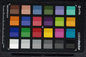 ColorChecker: El color de destino está en la mitad inferior de cada parche.