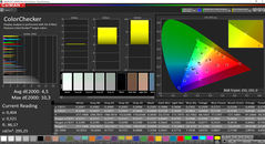 CalMAN ColorChecker (espacio de color de destino sRGB)