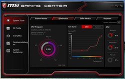 MSI Gaming Center – fan curves