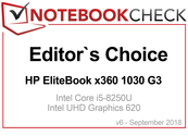 Editor's Choice in Septiembre 2018: HP EliteBook x360 1030 G3