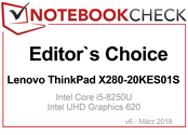 Editor's Choice Award in Marzo 2018: Lenovo ThinkPad X280