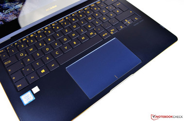 the touchpad of the Asus ZenBook Flip S