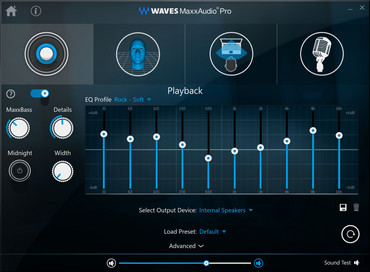 Waves MaxxAudio Pro con ecualizador configurable