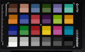 ColorChecker: El color de referencia se muestra en la mitad inferior de cada área de color.