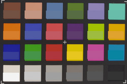 ColorChecker Passport: color de referencia en la mitad inferior de cada parche.