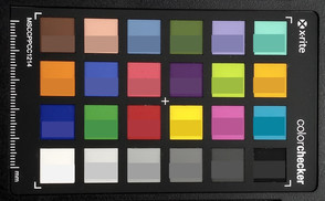 ColorChecker: El color de destino se muestra en la mitad inferior de cada campo.