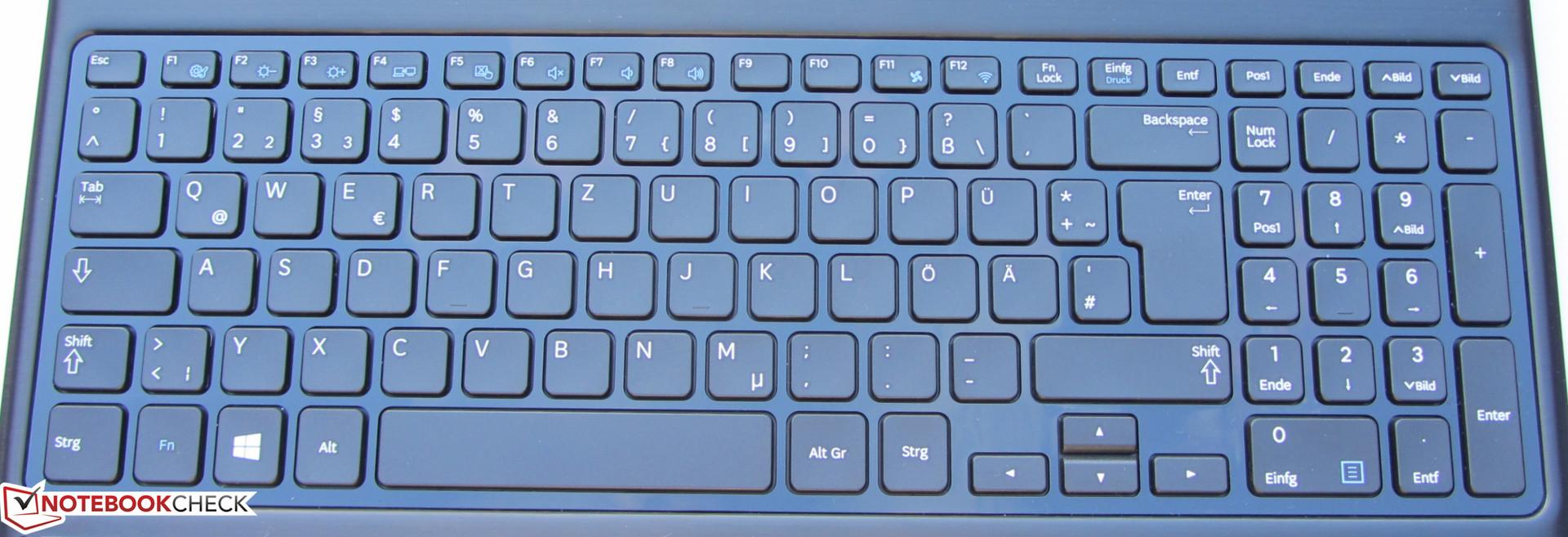 Notebook samsung com teclado numerico - Teclado Sin Iluminaci N