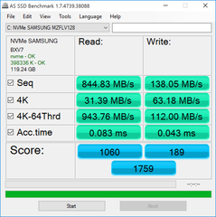 AS SSD - Samsung NVMe Express Storage Driver