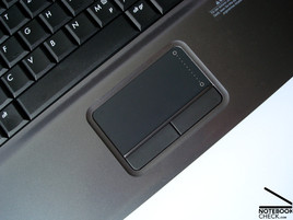 HP 550 touchpad