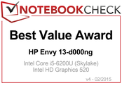 Best Value Award in January 2016: HP Envy 13-d000ng QHD/i7