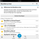 Todas las notificaciones se reunen en BlackBerry Hub.