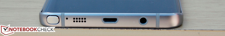 Bottom: S Pen slot, Microphone, Speakerphone, Micro-USB 2.0, 3.5 mm audio