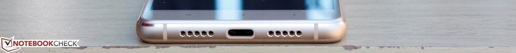 Bottom: USB Type-C port