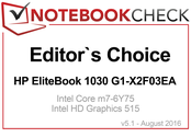 Editor's Choice Award Agosto 2016: HP EliteBook 1030 G1