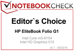 Editor's Choice Award Julio 2016 - HP EliteBook Folio G1