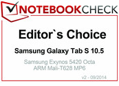 Editor's Choice Septiembre 2014: Samsung Galaxy Tab S 10.5