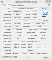System info: GPU-Z Intel HD Graphics 5500