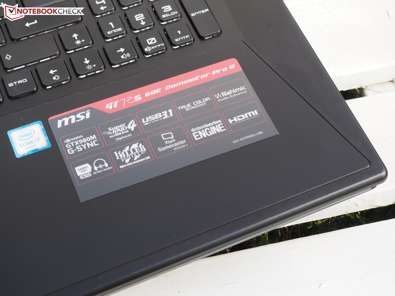 MSI GT72 6QE Dominator Pro 4K Realtek Card Reader Windows 7