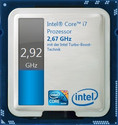 Turbo Boost: The Core i7 clocks with 2.79-2.92 GHz under full load