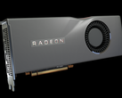 The AMD Radeon RX 5700 XT graphics card features 40 compute units. (Image source: AMD)