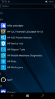 HP Elite x3: apps HP