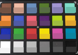 ColorChecker: Target colors are displayed in the lower half of each patch.