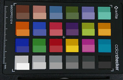 ColorChecker: La mitad inferior de cada área de color muestra el color de referencia.