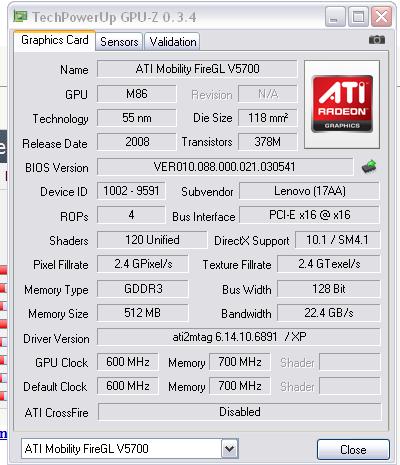 ATI Mobility FireGL Graphics Drivers for Windows 7